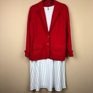 A New Day White Pinstripe Shift Dress
